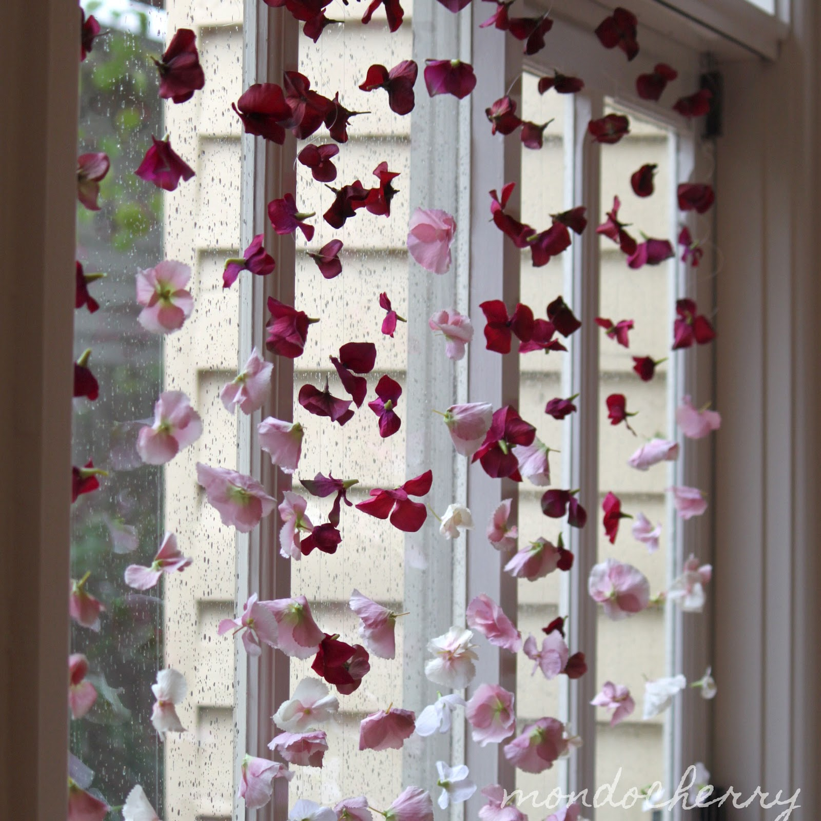 Charming Artificial Flower Curtain