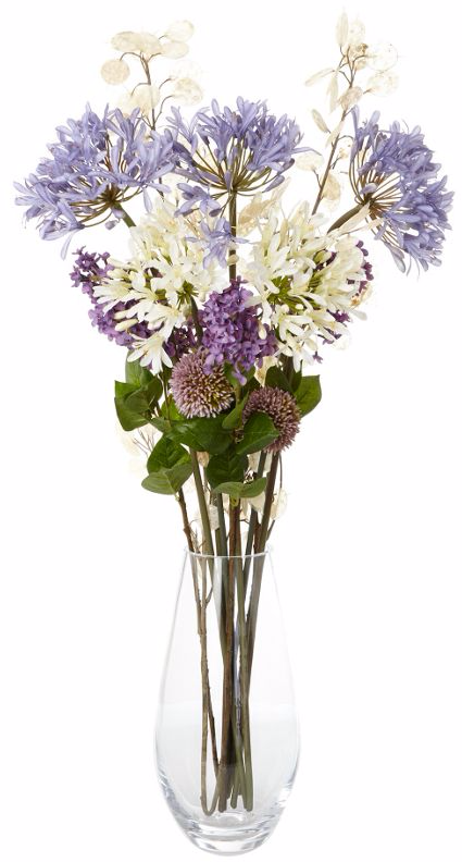 Artificial flowers arrangement