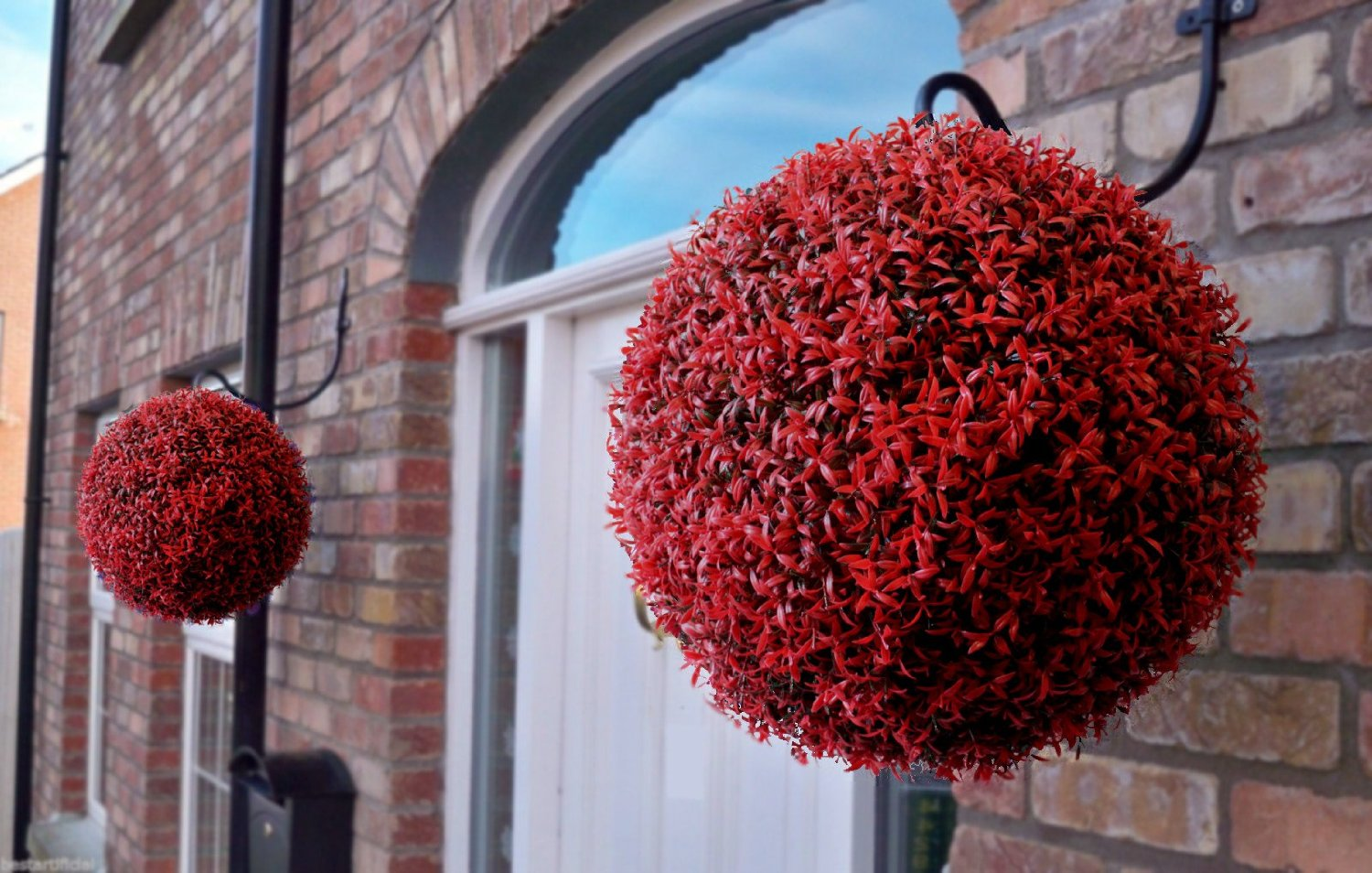 40cm Topiary Balls Part - 27: ... 40cm Red Rosemary Topiary Balls. Red Rosemary Artificial Ball