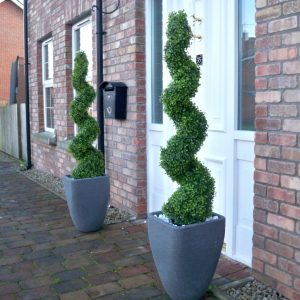 Artificial Boxwood Buxus Topiary Spiral Trees