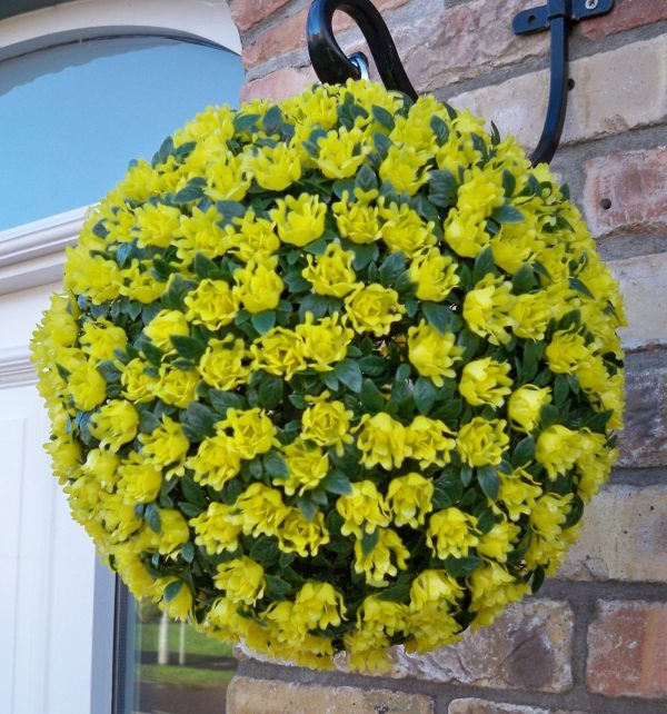 Yellow artificial topiary ball