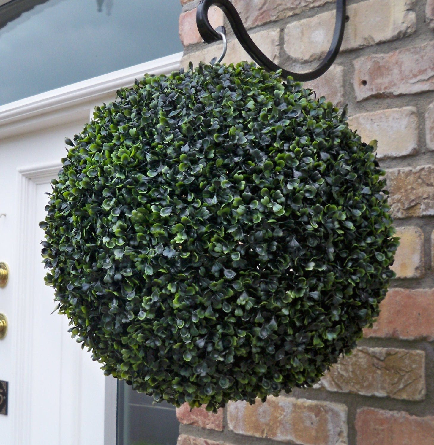 Artificial 38cm Buxus Boxwood Single Topiary Ball The Artificial Flowers Company