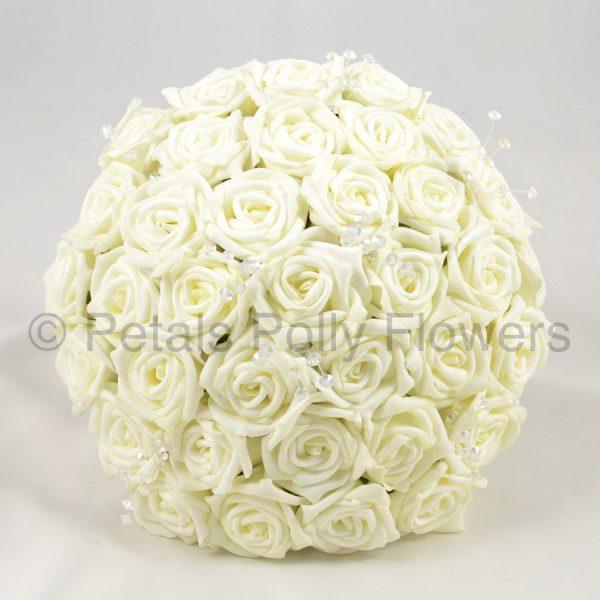 Artificial wedding flowers - bride's bouquet