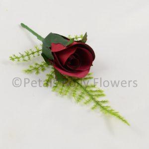 Rose wedding buttonhole