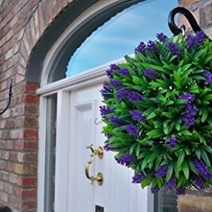 Purple Lush Lavender Long Leaf Topiary Grass Balls