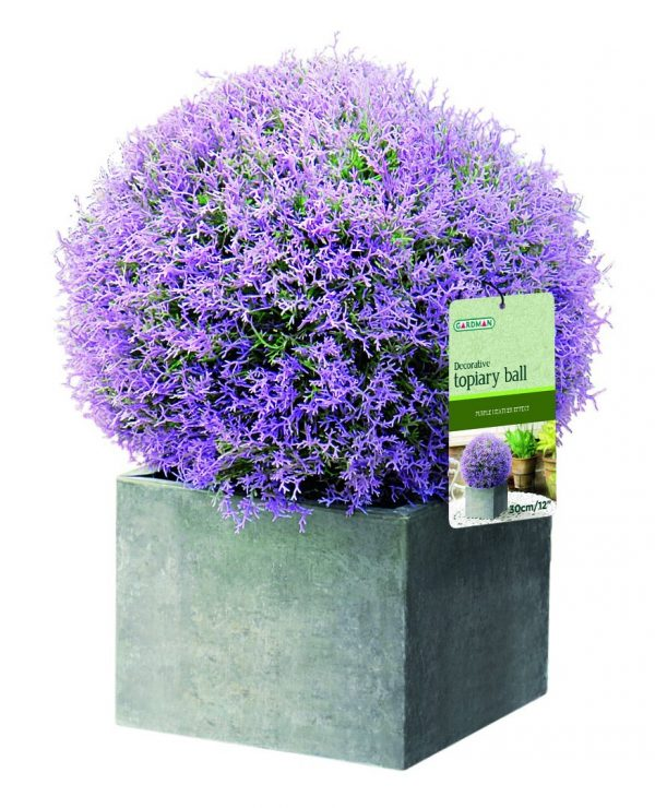 Purple flower topiary ball