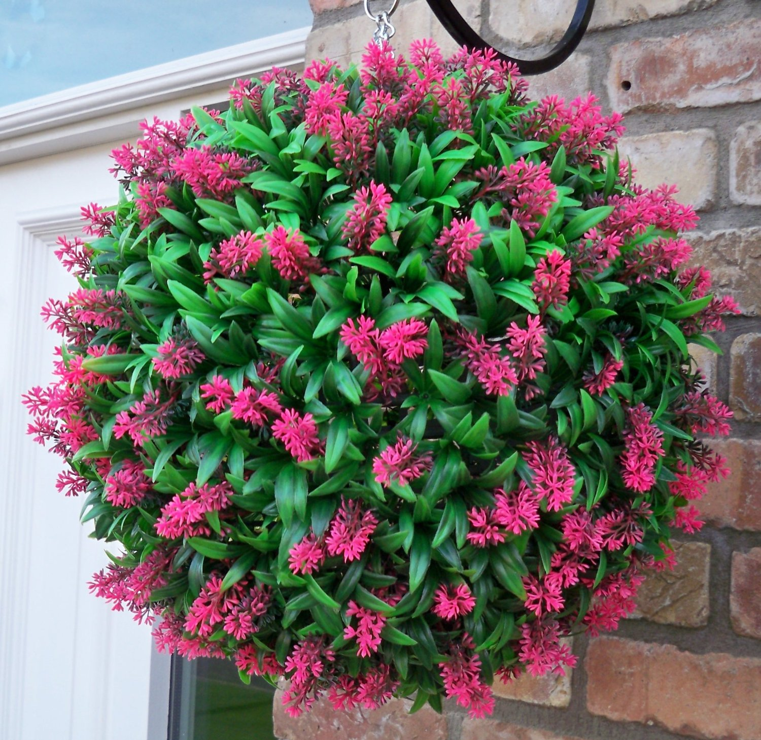 Lovely Artificial Topiary Balls Part - 7: Artificial Pink Topiary Ball