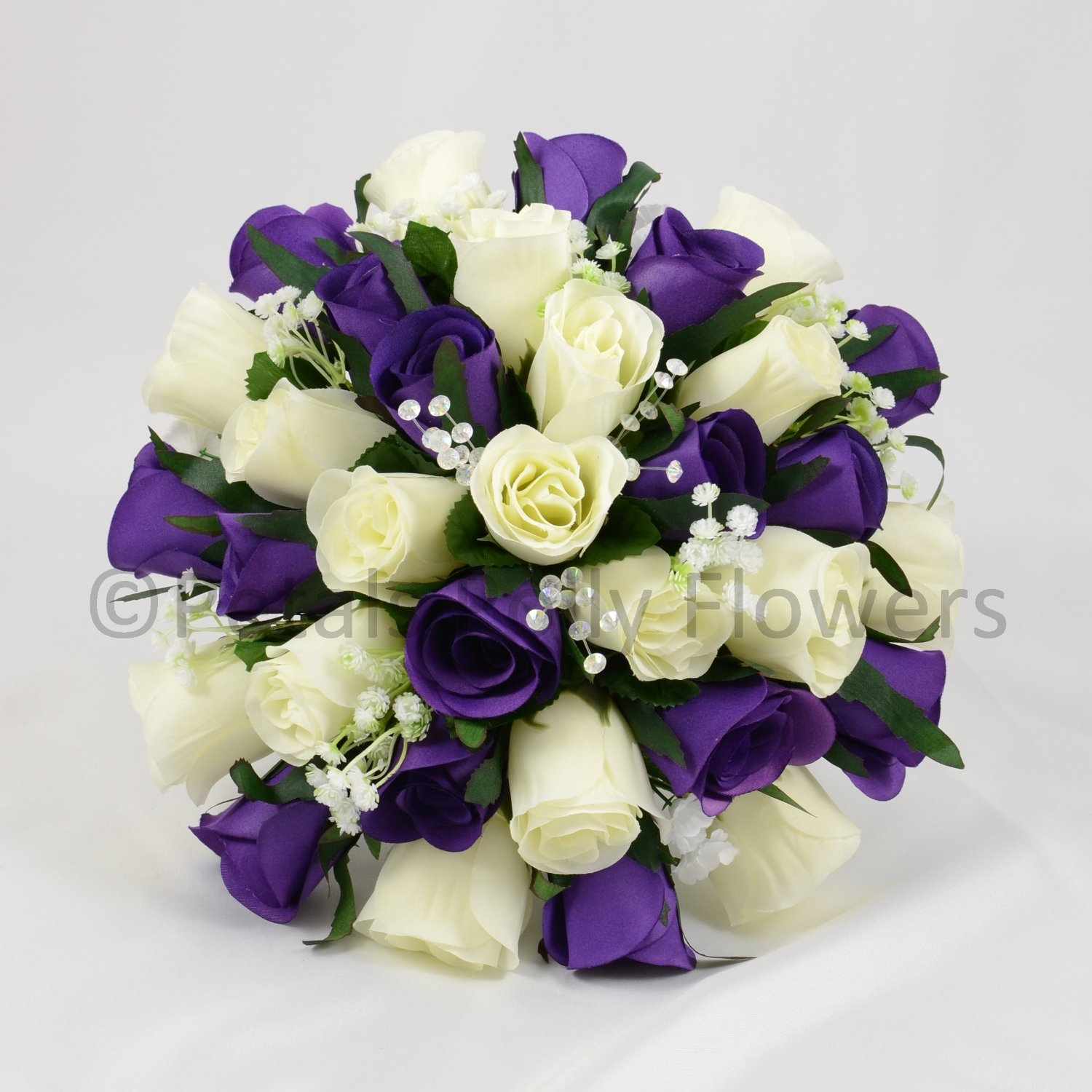 purple and cream wedding bouquets made artificial flowers s posy in purple and 6868