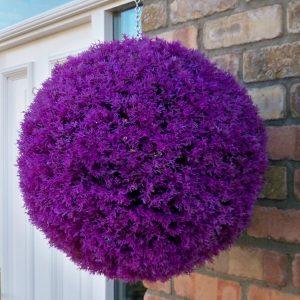 Purple heather topiary ball