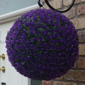 Purple rose topiary