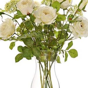 English roses artificial flower arrangement