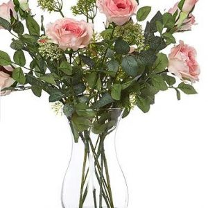 Shabby chic pink artificial flowers