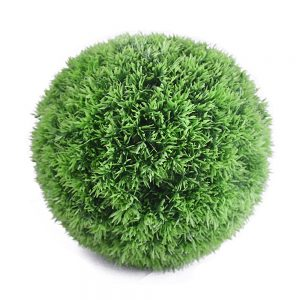 Artificial grass topiary ball