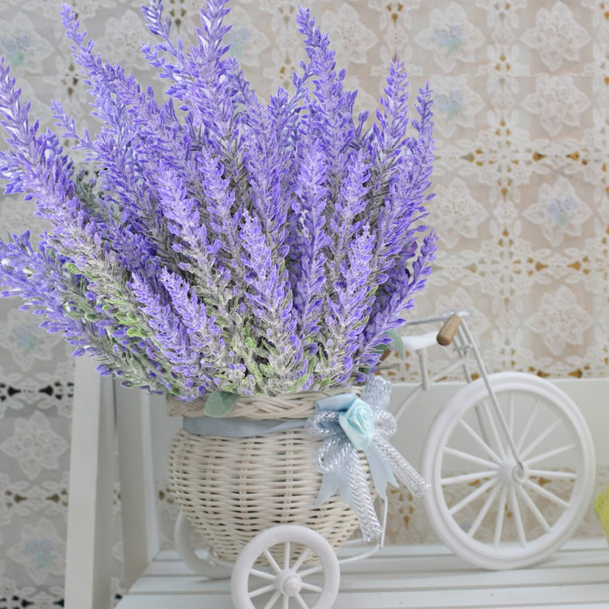 8 Bundles Of Artificial Lavender The Artificial Flowers