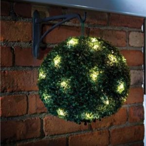 28cm artificial topiary ball with lights