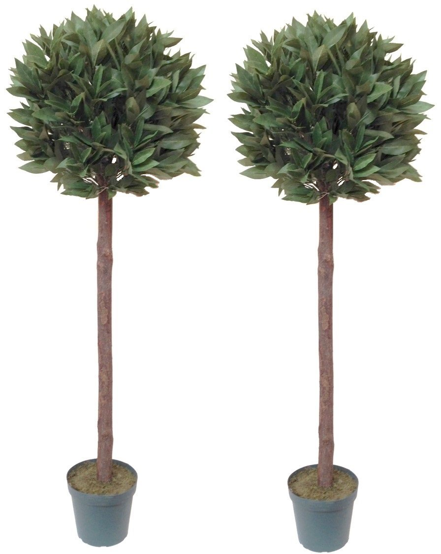 pair of artificial bay trees (4ft) - the artificial flowers company Artificial Outdoor Trees