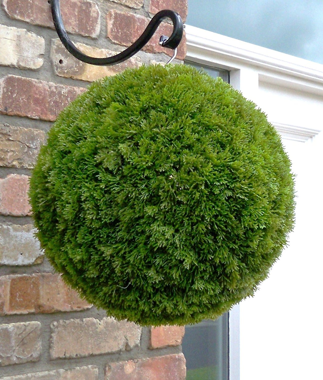 Artificial Topiary Balls Part - 43: Single 38cm Conifer Topiary Ball Single 38cm Conifer Topiary Ball