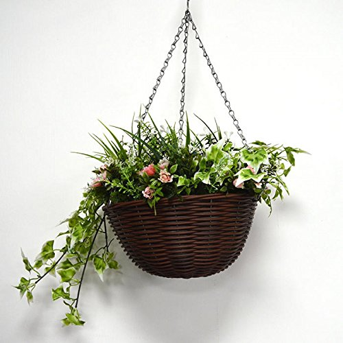 Artificial hanging basket