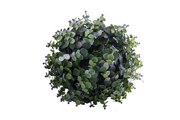 30cm artificial flower topiary ball purple