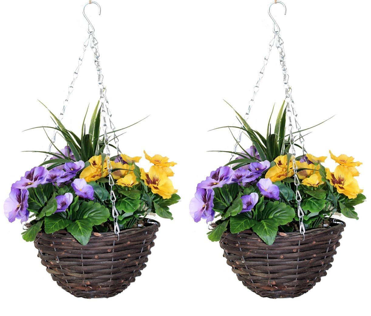 artificial hanging baskets - the artificial flowers company