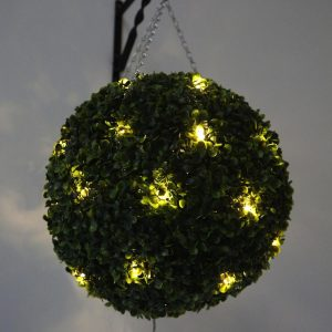 Topiary balls with lights