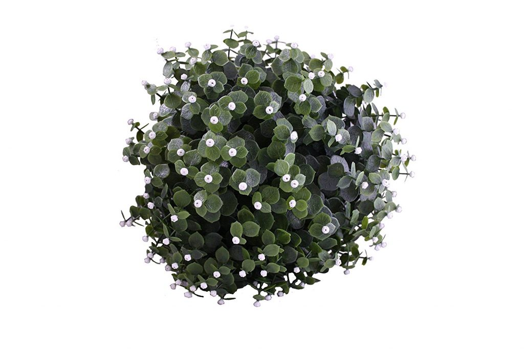 White flower topiary ball