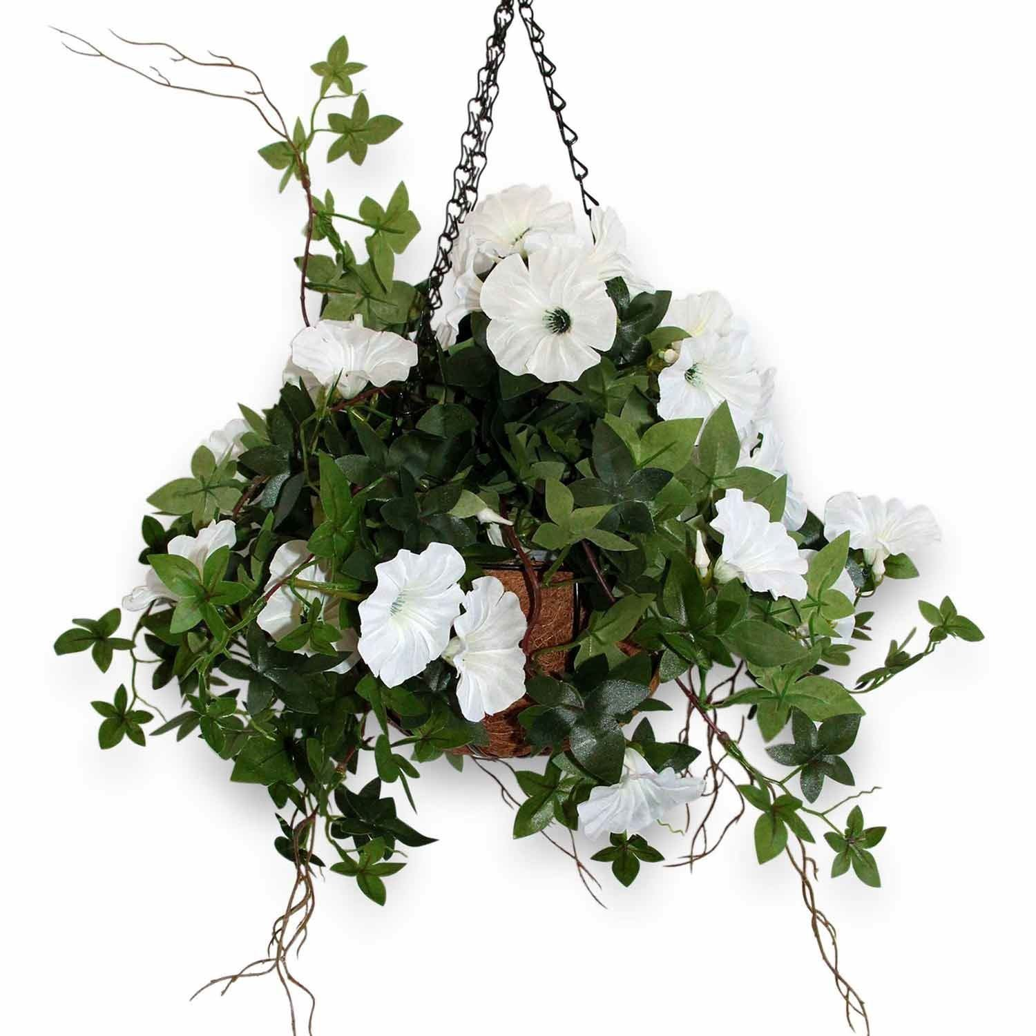 fake hanging baskets - the artificial flowers company