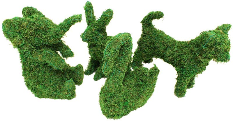 Artificial topiary animals