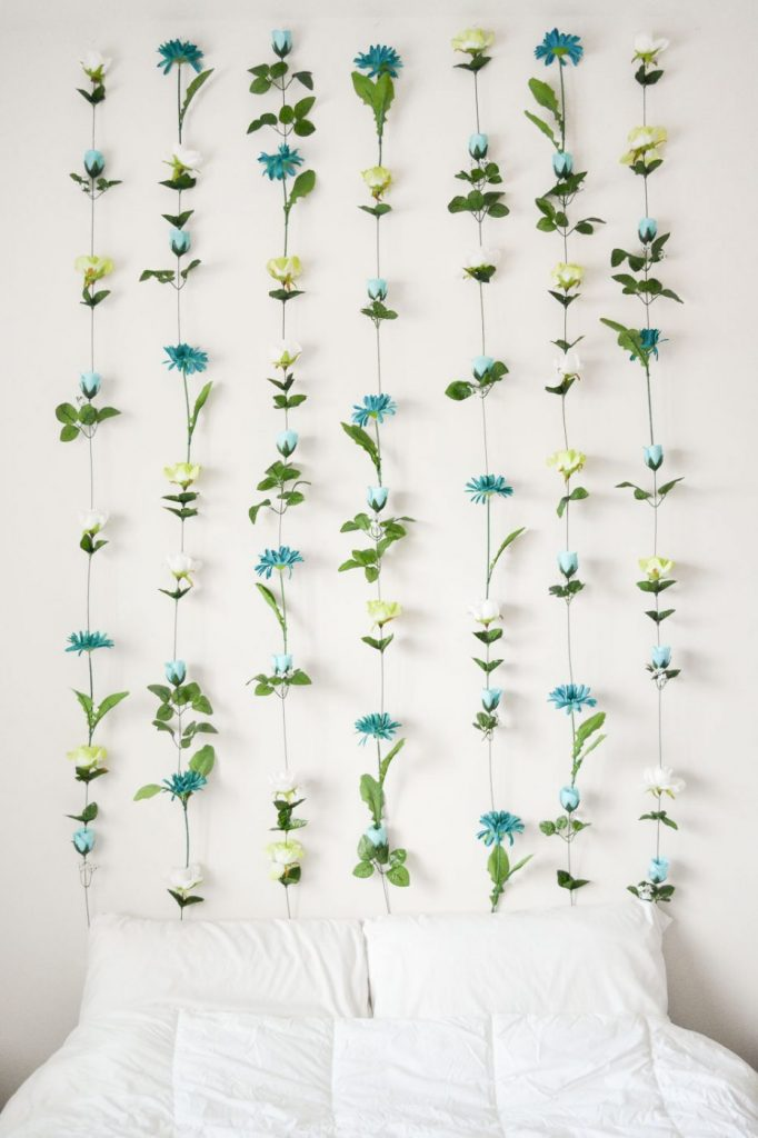 DIY flower headboard