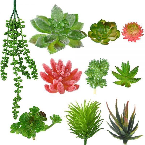 10 artificial plants
