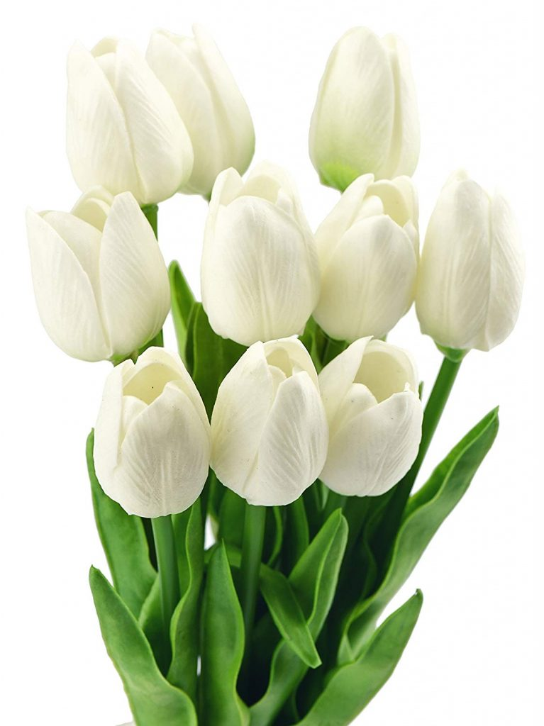 Bouquet of artificial tulips