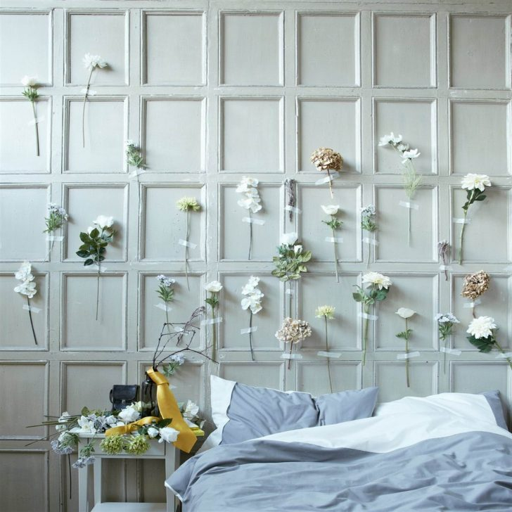 Flower headboard idea