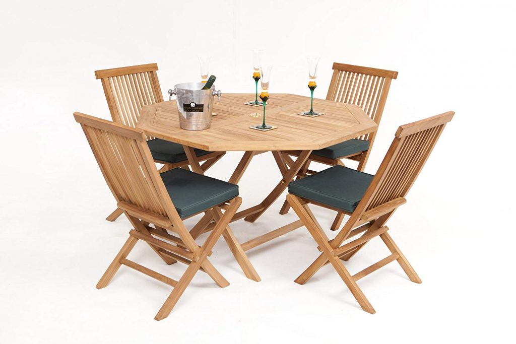 Teak patio set