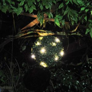 Topiary ball with lights