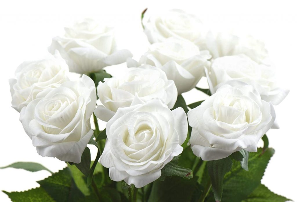 White artificial flowers - roses