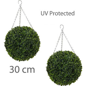 Artificial hanging topiary balls