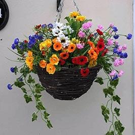 Artificial hanging basket