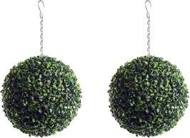 Artificial hanging topiary balls