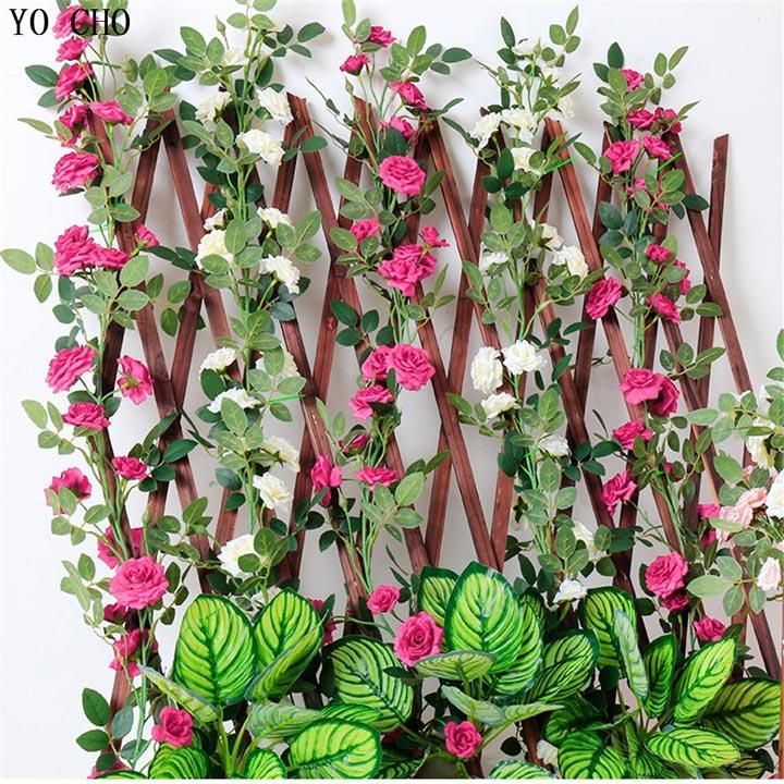 Climbing flower wall