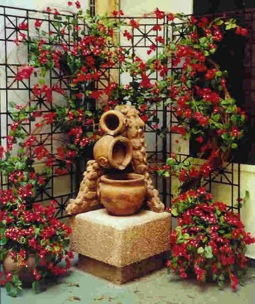 Flower wall trellis corner